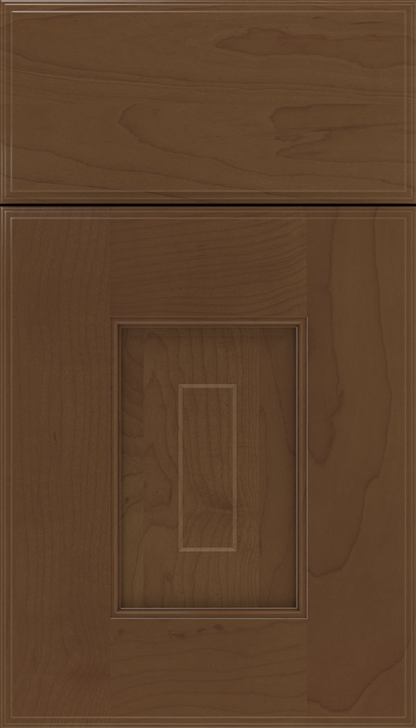 Brookfield Maple raised panel cabinet door in Sienna