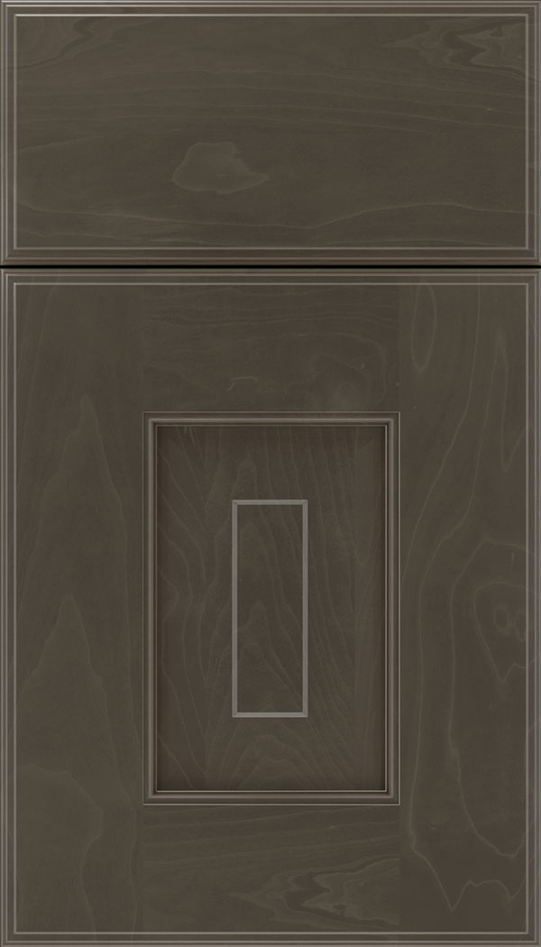 Brookfield Maple raised panel cabinet door in Thunder