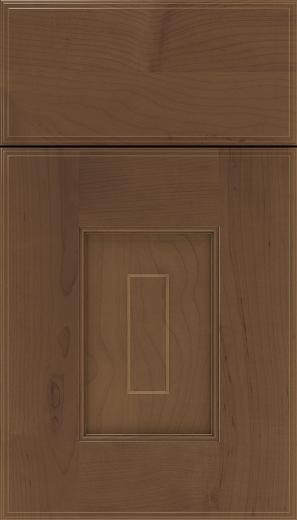 Brookfield Maple raised panel cabinet door in Toffee