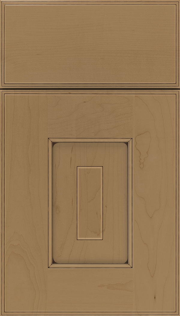 Brookfield Maple raised panel cabinet door in Tuscan with Mocha glaze