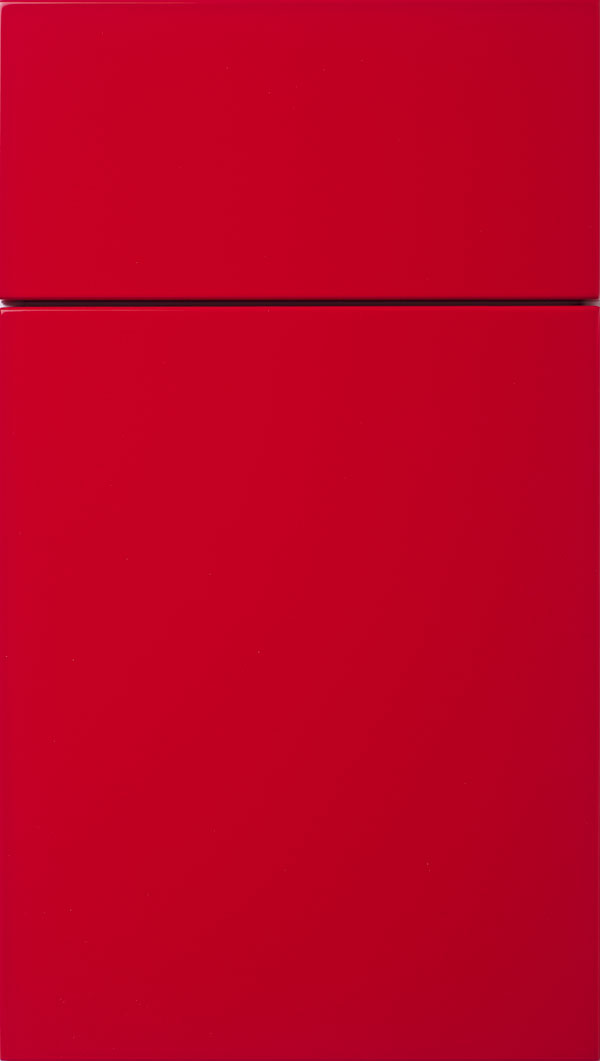 Calvi MDF cabinet door in Red
