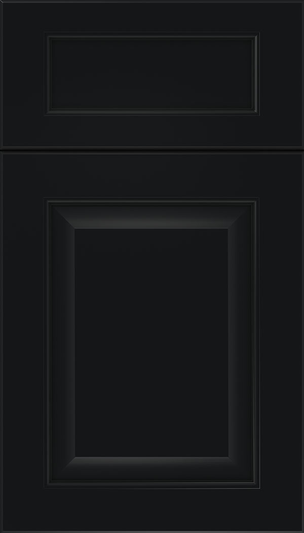 Cambridge 5pc Maple raised panel cabinet door in Black