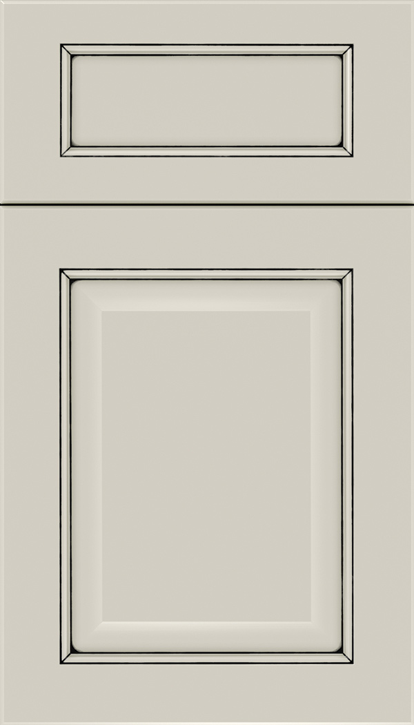 Cambridge 5pc Maple raised panel cabinet door in Cirrus with Black glaze