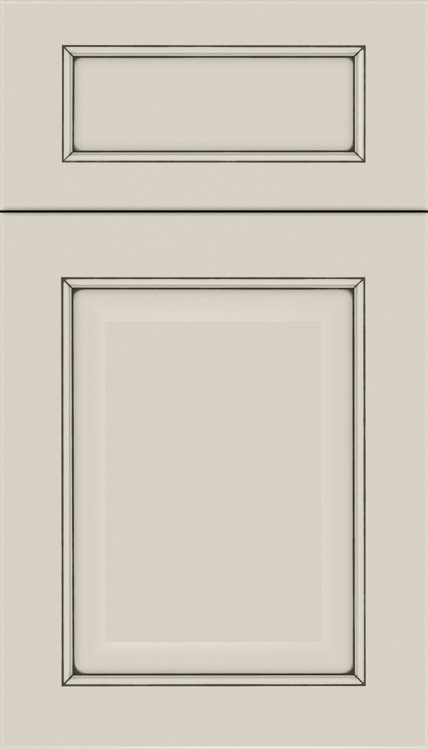 Cambridge 5pc Maple raised panel cabinet door in Cirrus with Smoke glaze