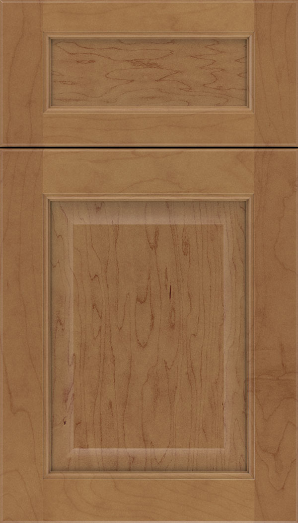 Cambridge 5pc Maple raised panel cabinet door in Nutmeg