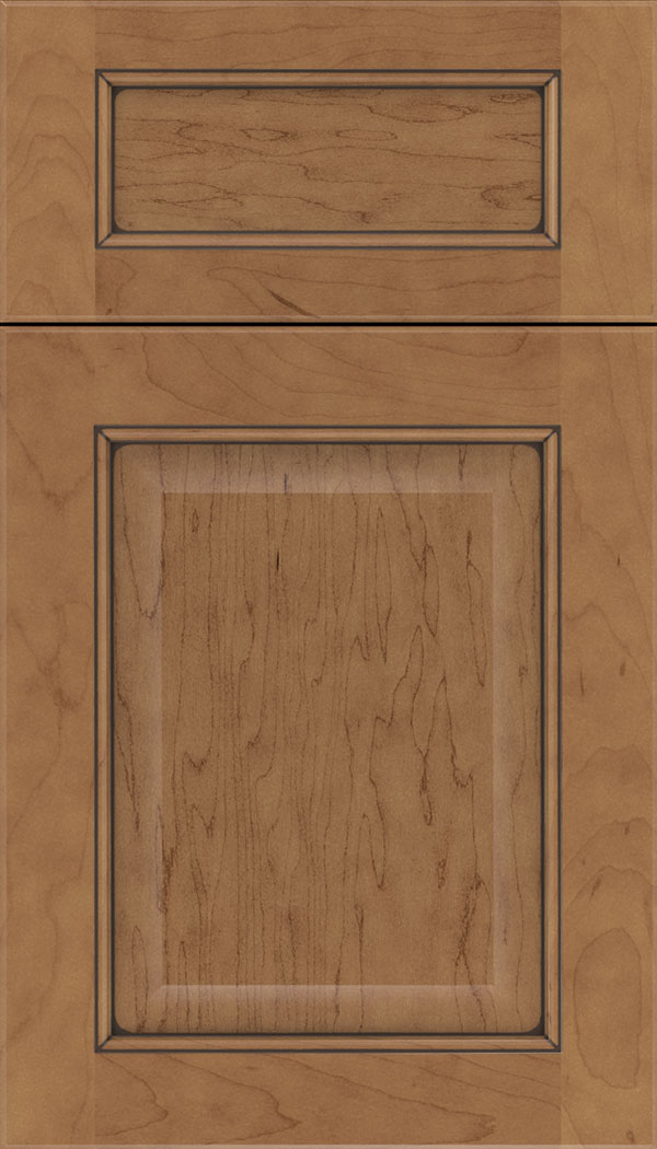 Cambridge 5pc Maple raised panel cabinet door in Nutmeg with Mocha glaze