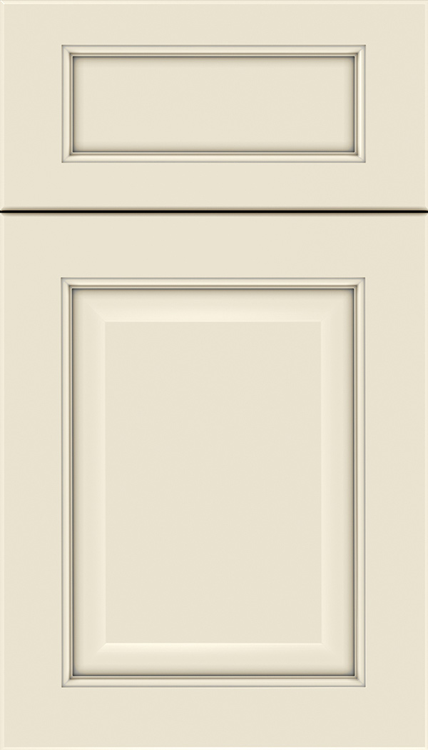 Cambridge 5pc Maple raised panel cabinet door in Seashell with Pewter glaze