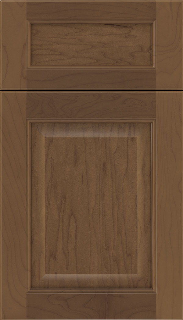 Cambridge 5pc Maple raised panel cabinet door in Toffee