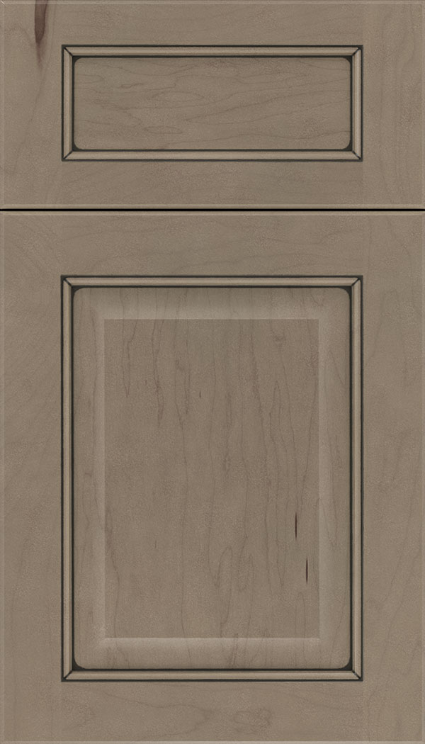 Cambridge 5pc Maple raised panel cabinet door in Winter with Black glaze