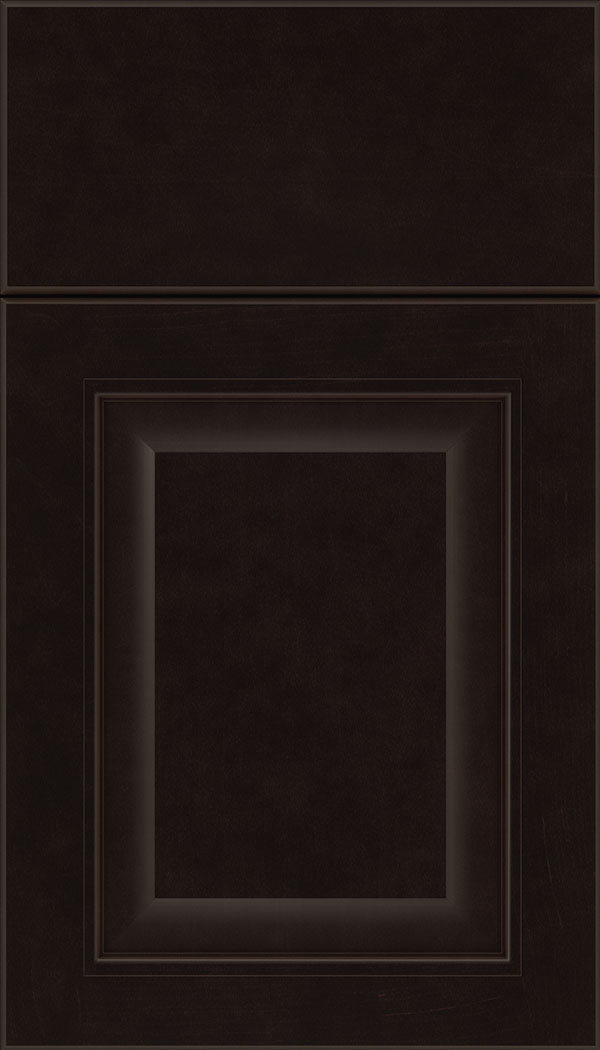 Cambridge Maple raised panel cabinet door in Espresso