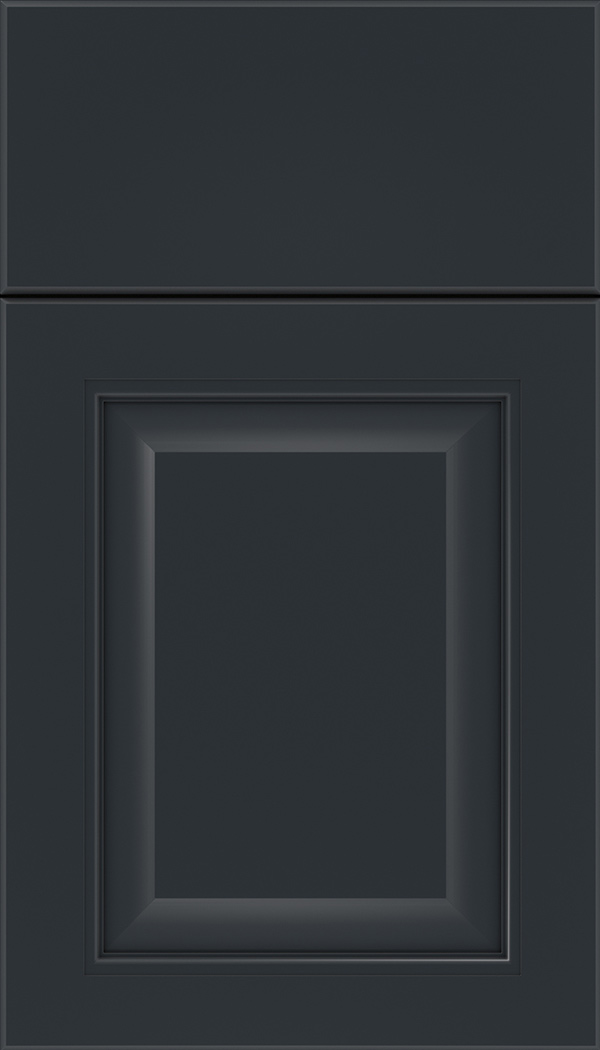 Cambridge Maple raised panel cabinet door in Gunmetal Blue