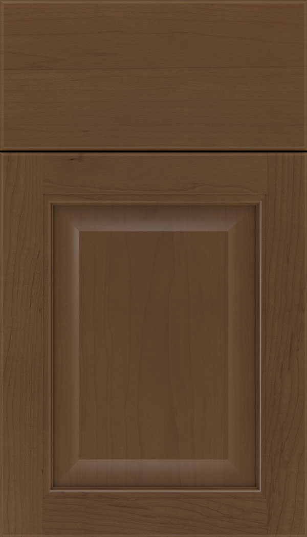 Cambridge Maple raised panel cabinet door in Sienna