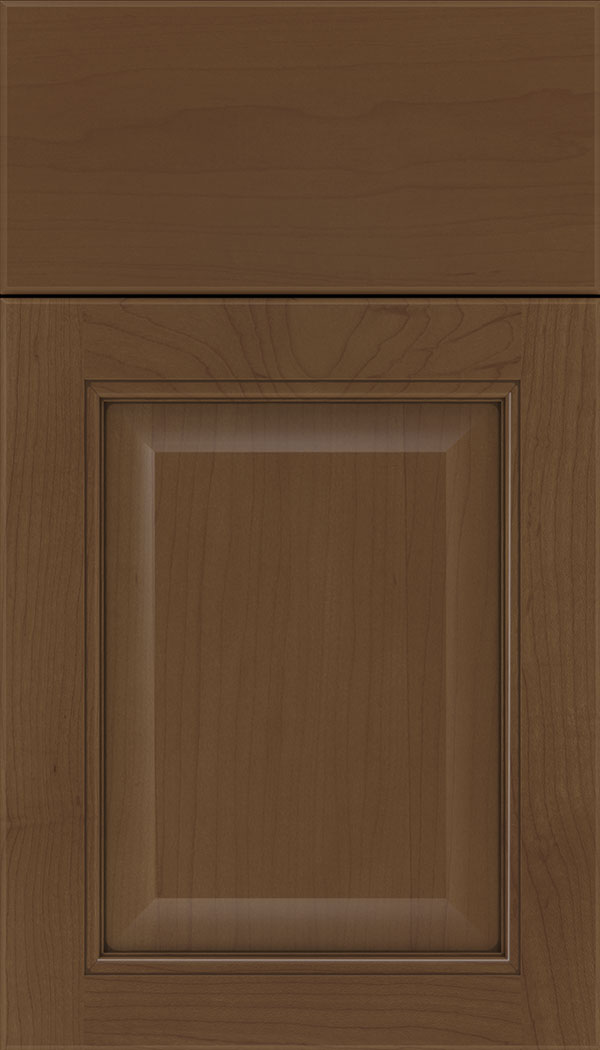 Cambridge Maple raised panel cabinet door in Sienna with Mocha glaze