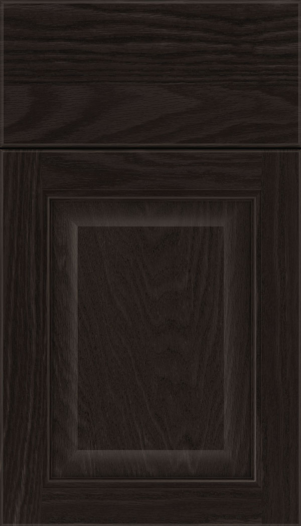 Cambridge Oak raised panel cabinet door in Charcoal