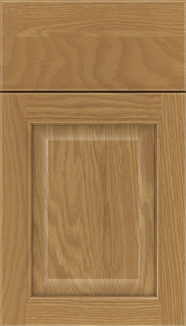Cambridge Oak raised panel cabinet door in Spice