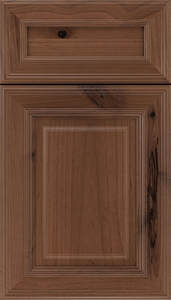 Chamberlain 5pc Alder raised panel cabinet door in Nutmeg
