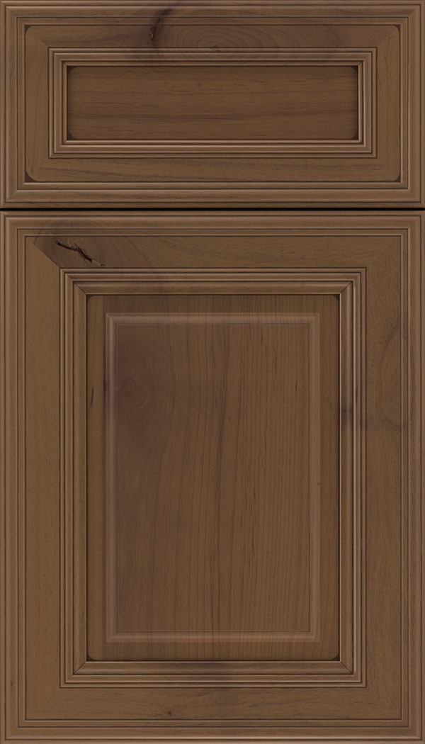 Chamberlain 5pc Alder raised panel cabinet door in Sienna with Mocha glaze