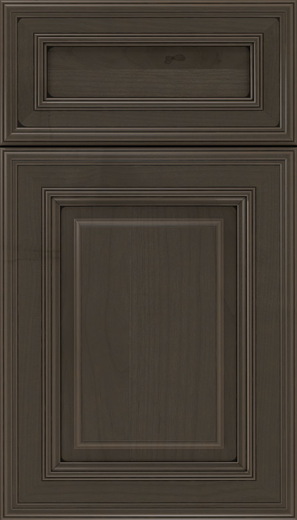Chamberlain 5pc Alder raised panel cabinet door in Thunder with Black glaze