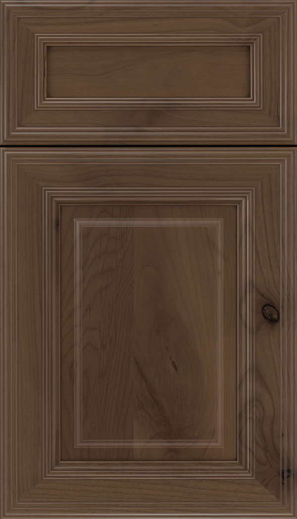 Chamberlain 5pc Alder raised panel cabinet door in Toffee with Mocha glaze
