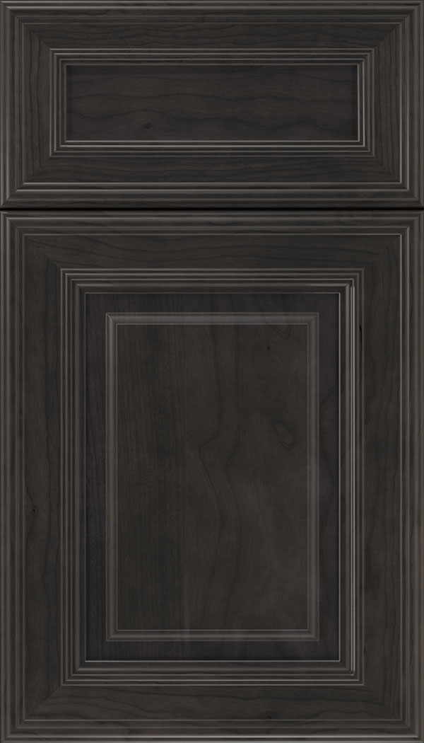 Chamberlain 5pc Cherry raised panel cabinet door in Charcoal