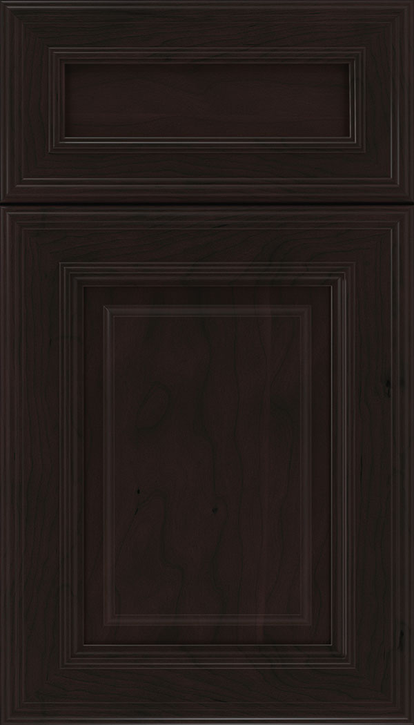 Chamberlain 5pc Cherry raised panel cabinet door in Espresso