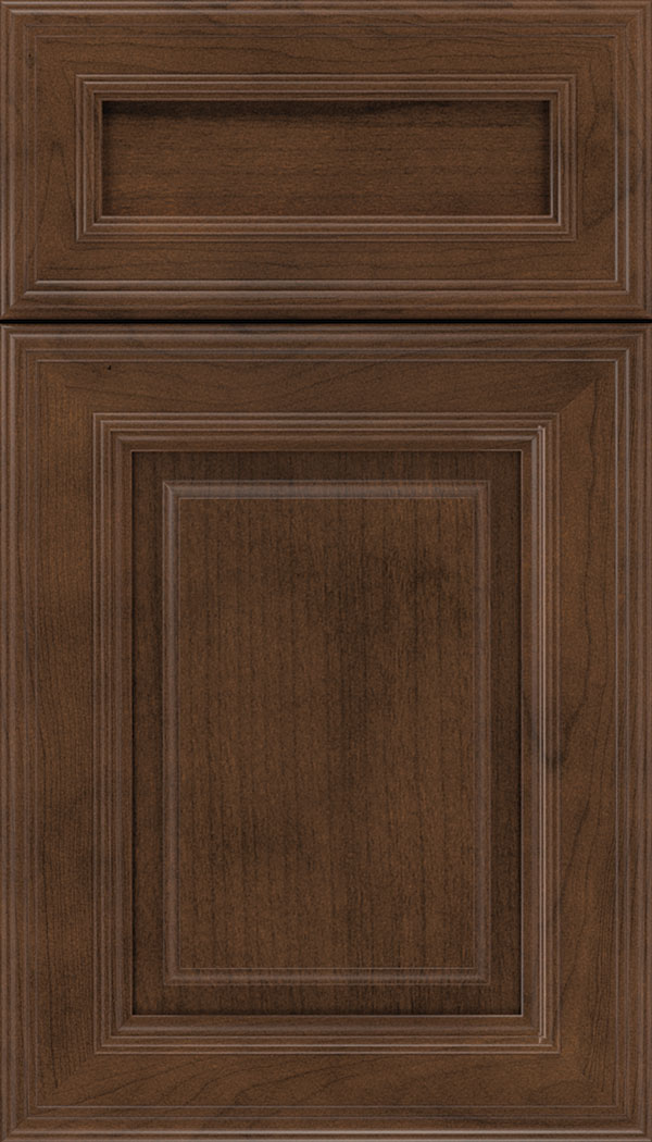 Chamberlain 5pc Cherry raised panel cabinet door in Sienna