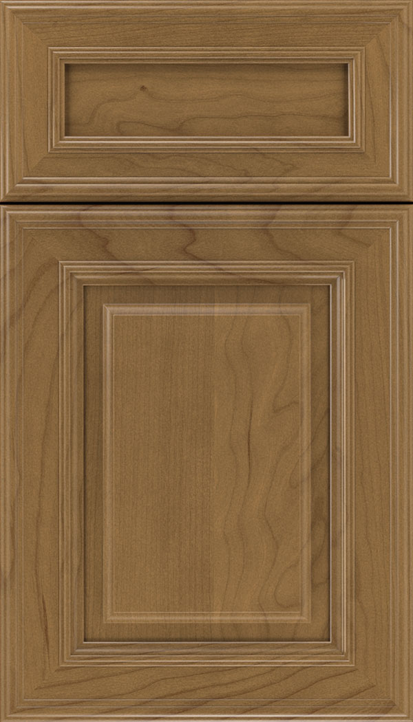 Chamberlain 5pc Cherry raised panel cabinet door in Tuscan