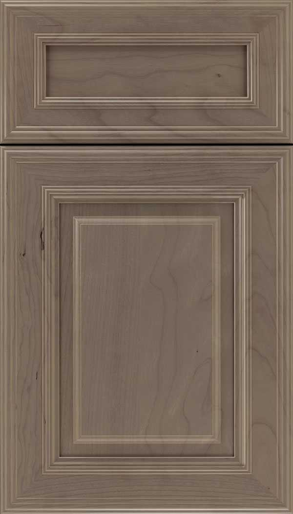 Chamberlain 5pc Cherry raised panel cabinet door in Winter