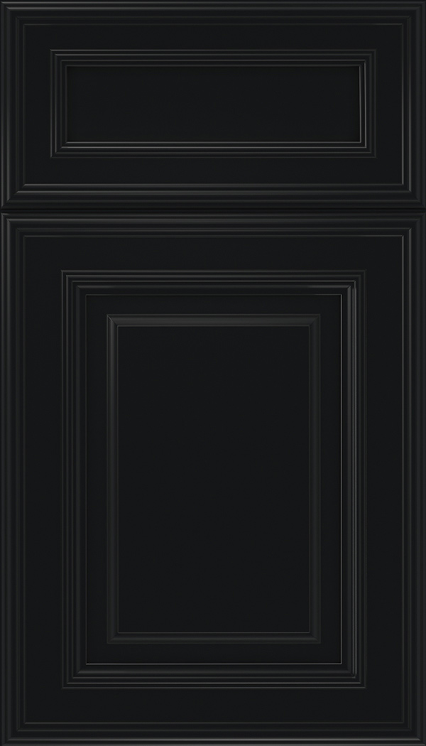 Chamberlain 5pc Maple raised panel cabinet door in Black
