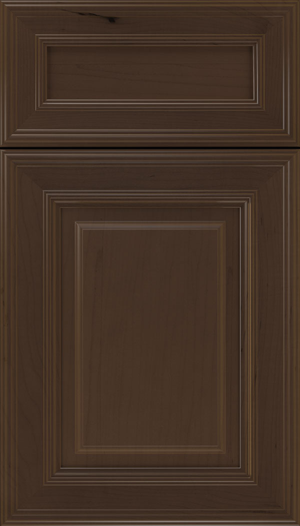Chamberlain 5pc Maple raised panel cabinet door in Cappuccino