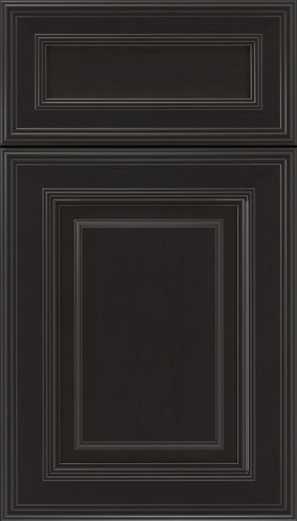 Chamberlain 5pc Maple raised panel cabinet door in Charcoal