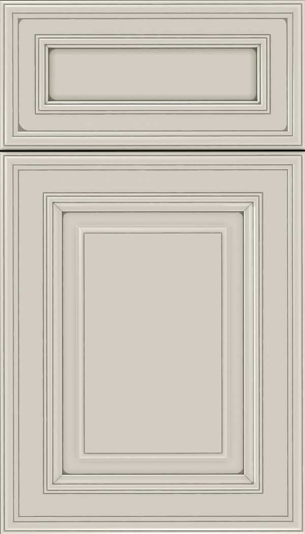 Chamberlain 5pc Maple raised panel cabinet door in Cirrus with Pewter glaze