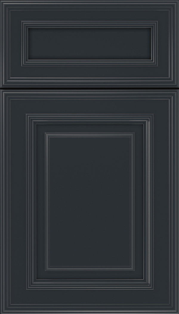 Chamberlain 5pc Maple raised panel cabinet door in Gunmetal Blue