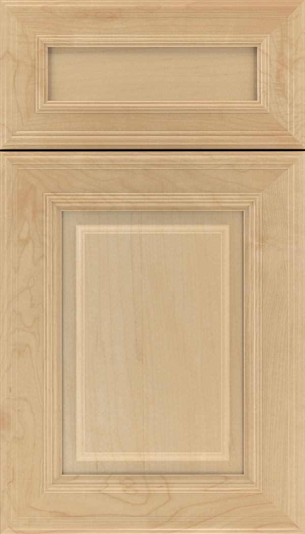 Chamberlain 5pc Maple raised panel cabinet door in Natural