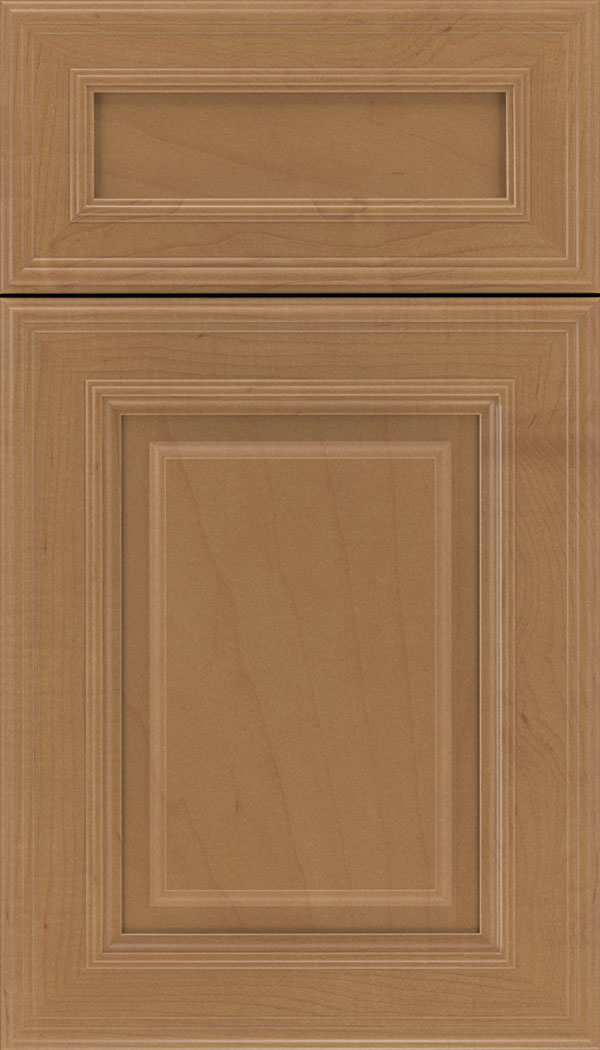 Chamberlain 5pc Maple raised panel cabinet door in Nutmeg