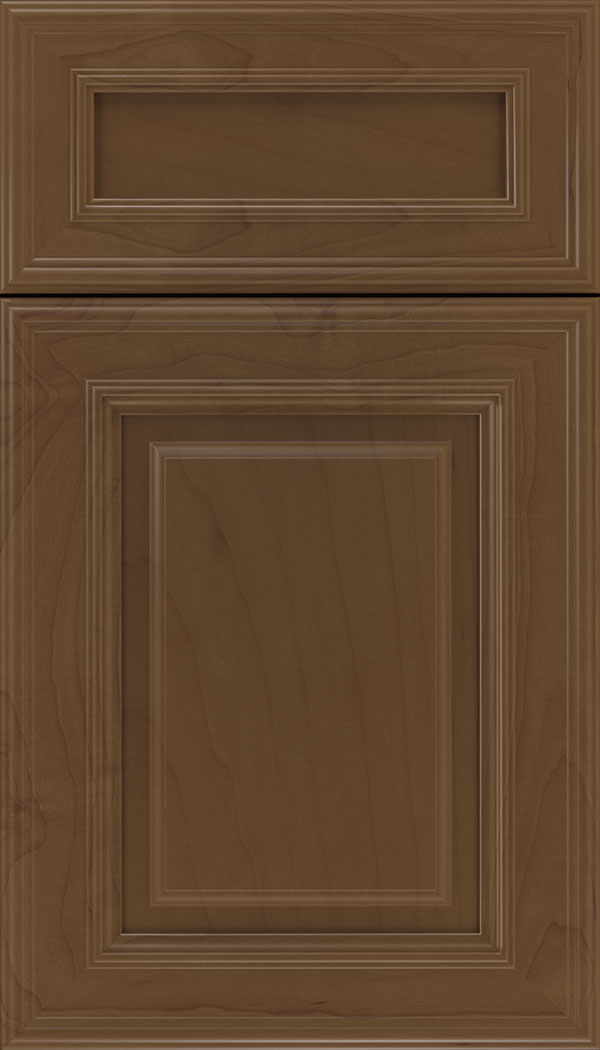 Chamberlain 5pc Maple raised panel cabinet door in Sienna