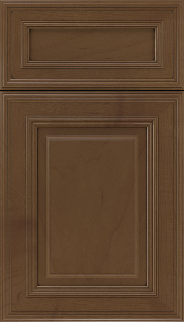 Chamberlain 5pc Maple raised panel cabinet door in Sienna with Mocha glaze