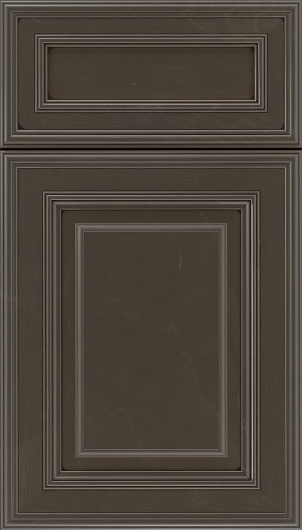 Chamberlain 5pc Maple raised panel cabinet door in Thunder with Black glaze