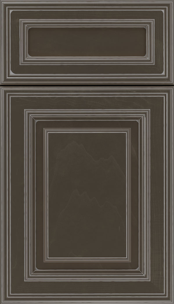 Chamberlain 5pc Maple raised panel cabinet door in Thunder with Pewter glaze