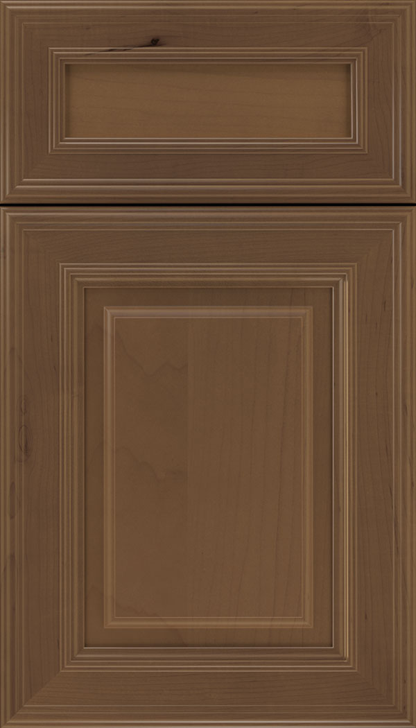 Chamberlain 5pc Maple raised panel cabinet door in Toffee