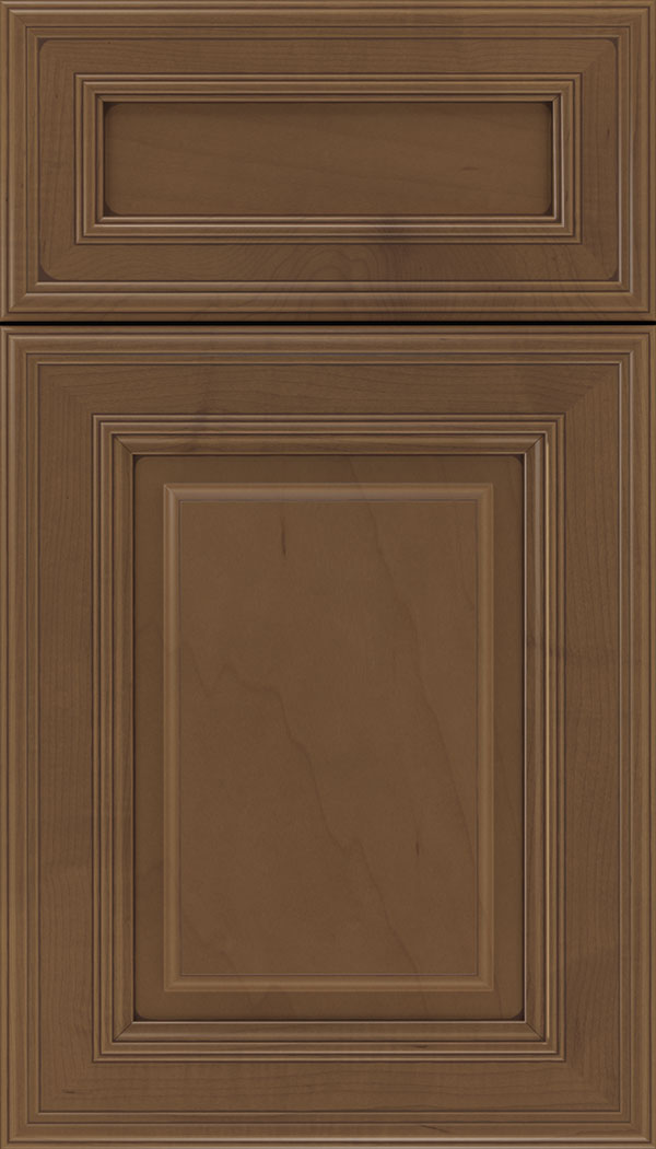 Chamberlain 5pc Maple raised panel cabinet door in Toffee with Mocha glaze
