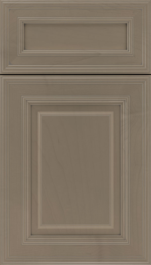 Chamberlain 5pc Maple raised panel cabinet door in Winter with Pewter glaze