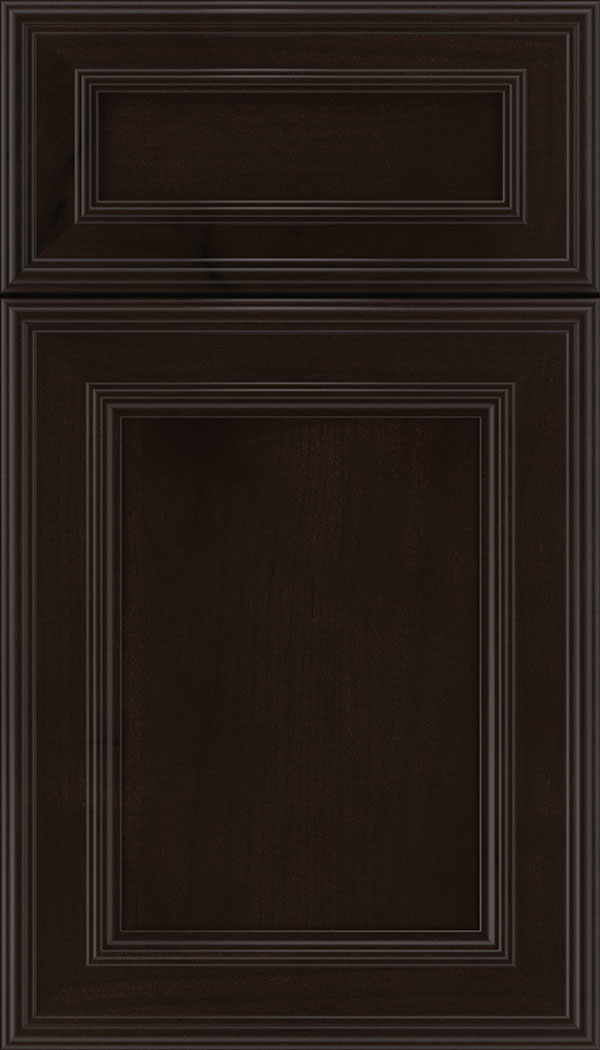Chatham 5pc Alder recessed panel cabinet door in Espresso