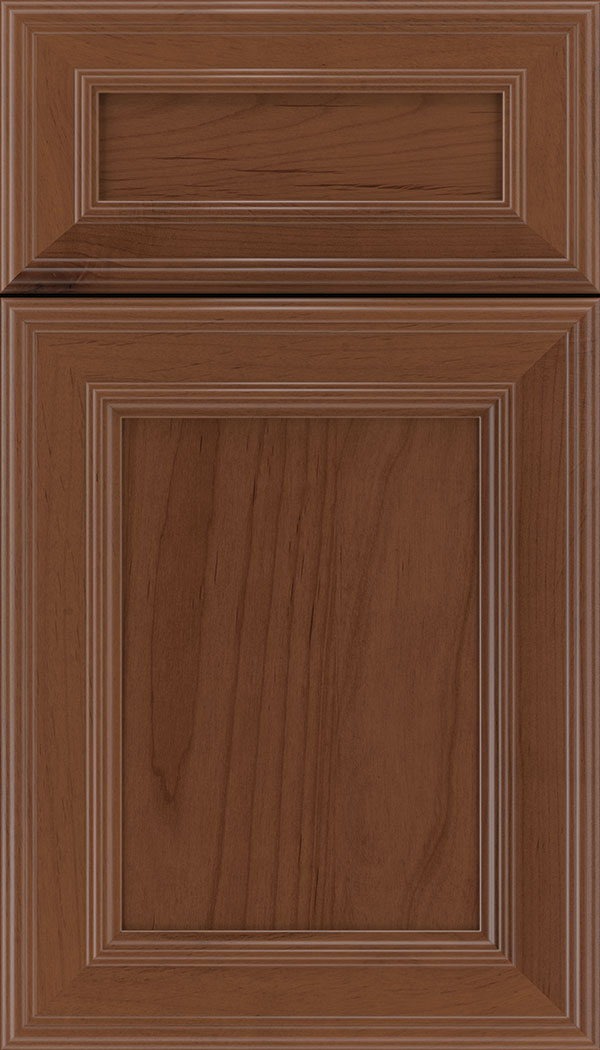 Chatham 5pc Alder recessed panel cabinet door in Russet