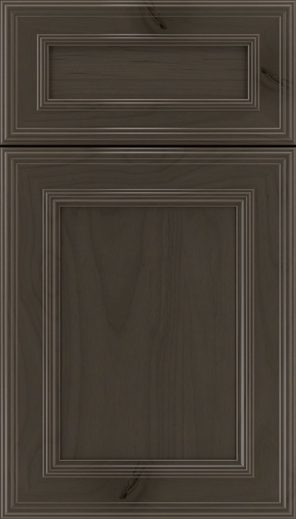 Chatham 5pc Alder recessed panel cabinet door in Thunder