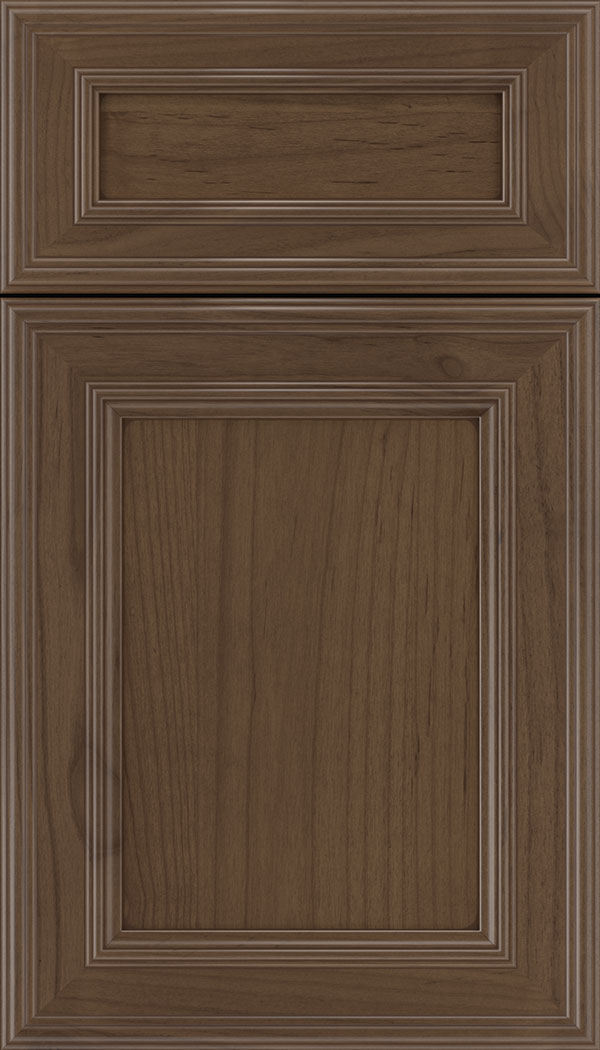 Chatham 5pc Alder recessed panel cabinet door in Toffee with Mocha glaze