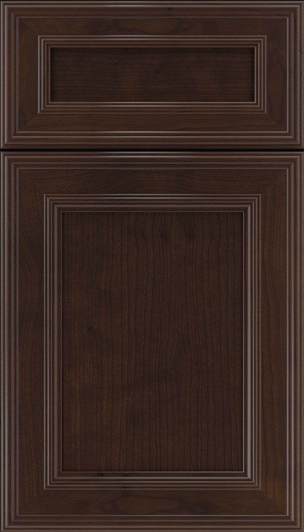 Chatham 5pc Cherry recessed panel cabinet door in Cappuccino