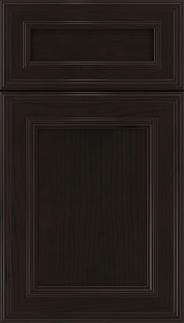 Chatham 5pc Cherry recessed panel cabinet door in Espresso