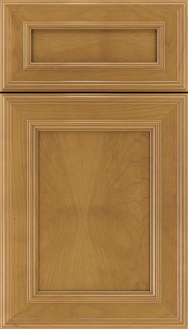 Chatham 5pc Cherry recessed panel cabinet door in Ginger