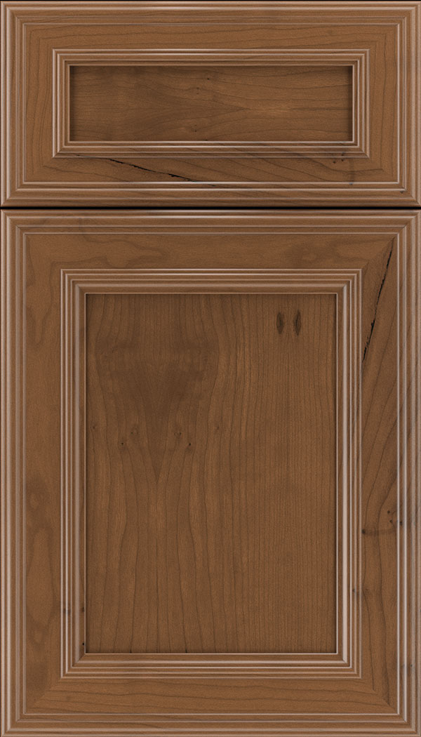 Chatham 5pc Cherry recessed panel cabinet door in Nutmeg